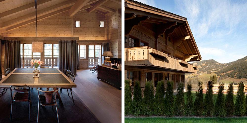Дом в швейцарских Альпах
