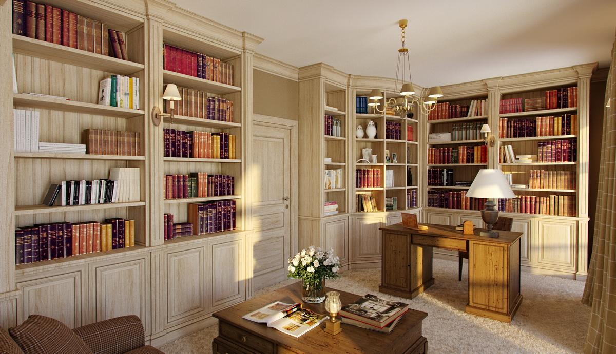 Мебель для библиотеки на заказ, купить мебель для домашней б.
