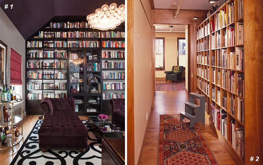 Дизайнерские решения для вашей домашней библиотеки