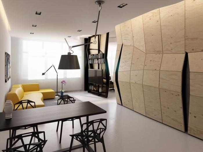 Уникальная концепция квартиры-трансформер.
